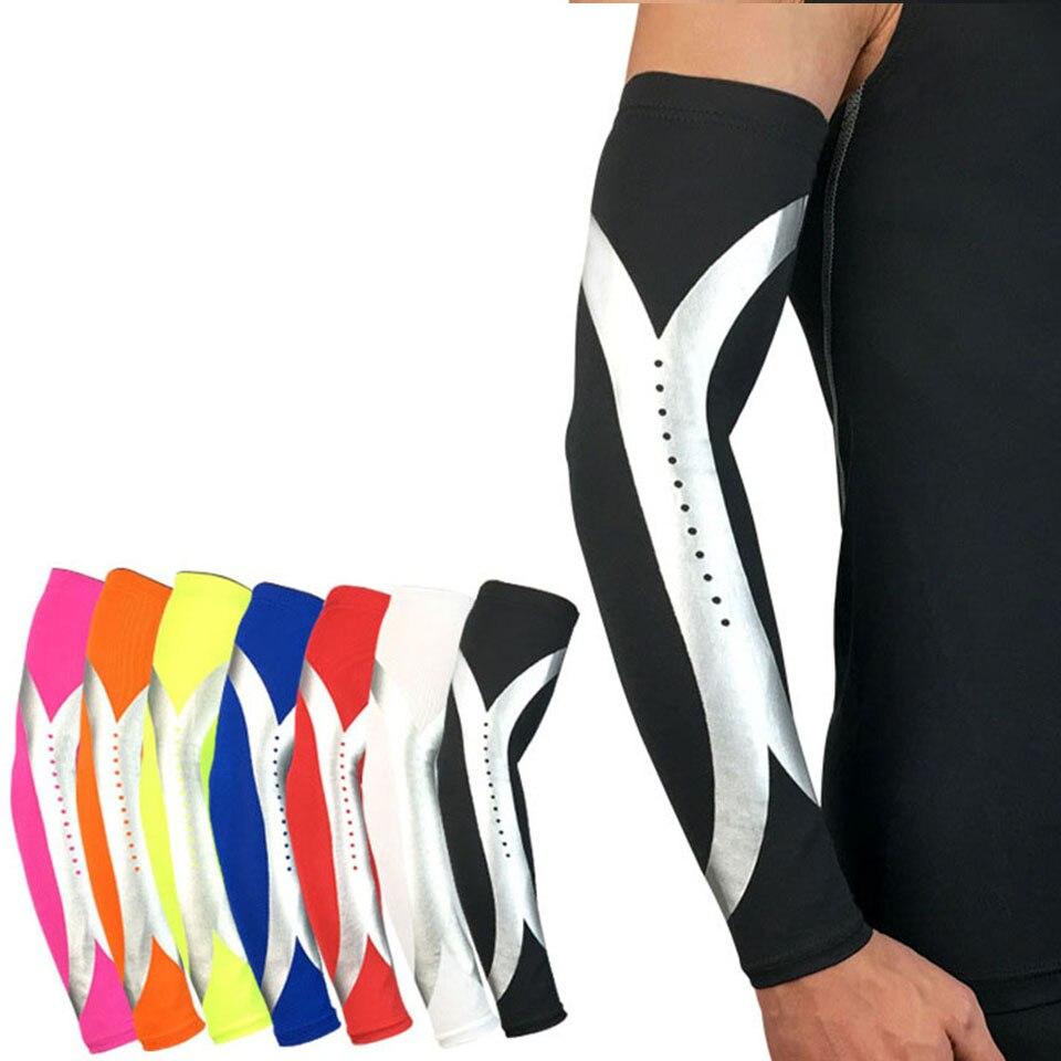 1 pçs respirável esportes de segurança cotovelo braço aquecedores almofada ciclismo basquete elástico manga longa cotovelo suporte protetor