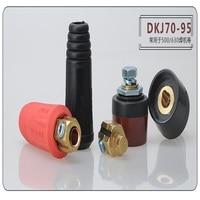 1set Welder accessories pure copper DK70-95 fast plug and socket connector European plug