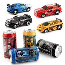 2021 NEW  20Km/h Coke Can Mini RC Car Radio Remote Control Micro Racing Car 4 Frequencies Toy For Ki