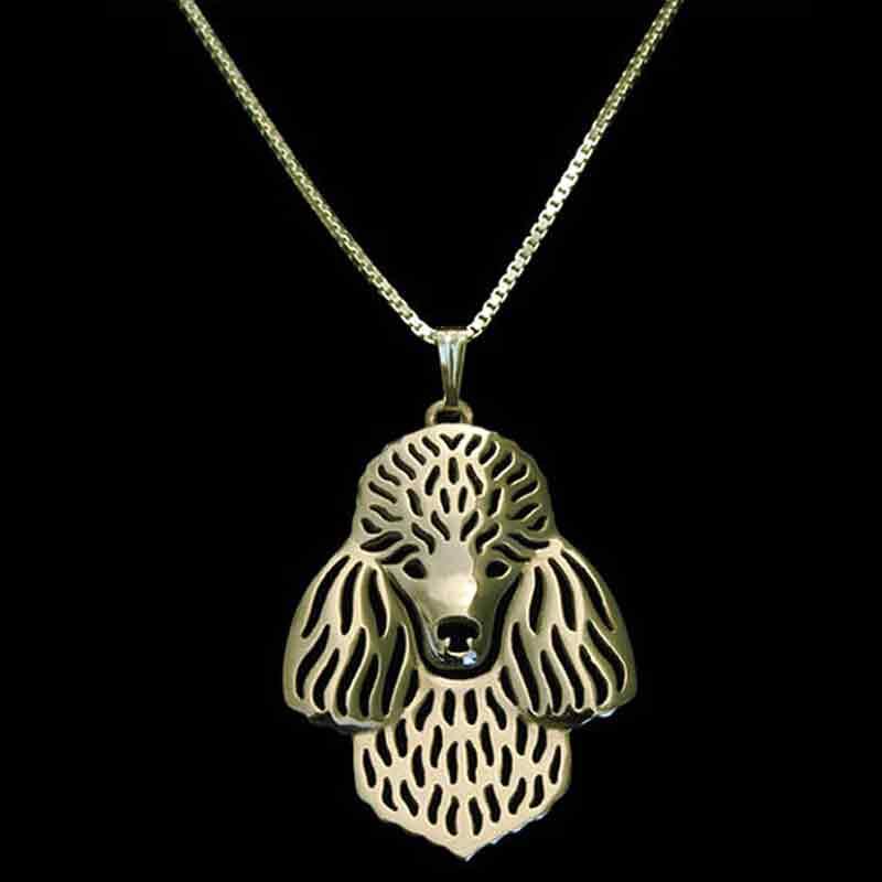 Ожерелье пуделя, Золотой щенок, собака, любовник, подвеска, ожерелье, украшение для животных, рождественские подарки, ювелирное изделие для ...