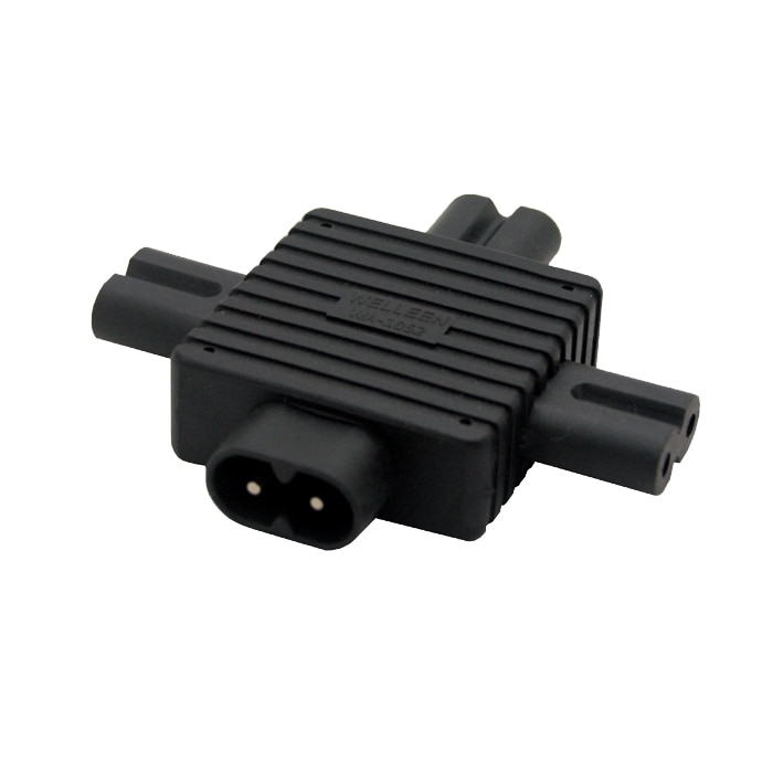 IEC-320 C8 a 3x C7 poder adaptador IEC 320 C7 C8 para...