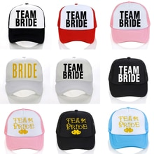 BRIDE TO BE TEAM BRIDE Bachelorette Baseball caps Women Wedding Preparewear Trucker Caps White Neon Summer Mesh cap team bride