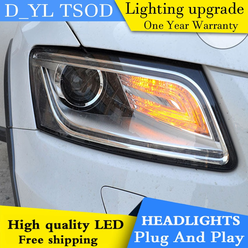 D_yl estilo do carro para audi q5 faróis 2013-2015 q5 led farol drl lente feixe duplo h7 hid xenon bi xenon lente