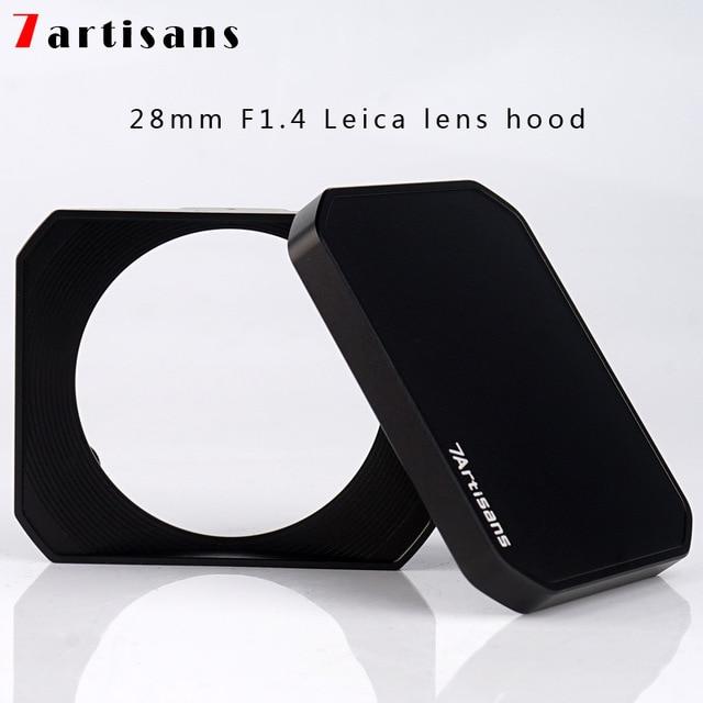 7 прямоугольная металлическая бленда Для 7 ремесленников 28 мм F1.4 для Leica бленда объектива + крышка