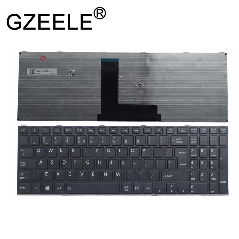GZEELE جديد لتوشيبا C50-B C50D-B C50DT-B C55-B C55D-B C55DT-B C55T-B لوحة المفاتيح المملكة المتحدة إطار NSK-V80SC K000890020 QWERTY