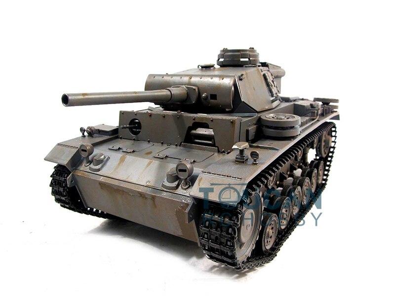 100% metal mato 1/16 panzer iii rc tanque kit modelo bb tiro cinza 1223 th00662