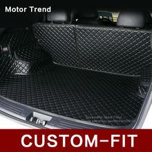Custom fit car trunk mat for Camry RAV4 Accord Corolla Altima CRV Fusion Escape Focus Explorer 3D car styling cargo liner