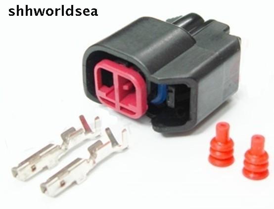 Shhworld Sea 10 комплектов 2 PIN Way ev6 ev14 USCAR топливный инжектор соединители Pigtail водонепроницаемый соединитель sr20det rb30 GTR FAST ls2 ls3
