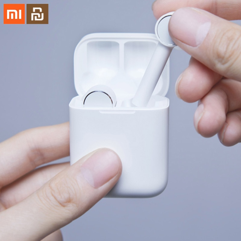 Xiaomi mijia بلوتوث سماعة الهواء مي AAC HD الصوت الضوضاء تخفيض اللمس TWS اللاسلكية الذكية سماعة مع ميكروفون سدادات