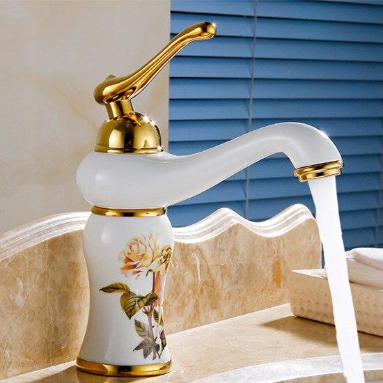 صنبور حوض مغسلة من النحاس الصلب المطلي بالذهب الوردي ، صنبور مغسلة ، ماء بارد وساخن مصقول ، شحن مجاني