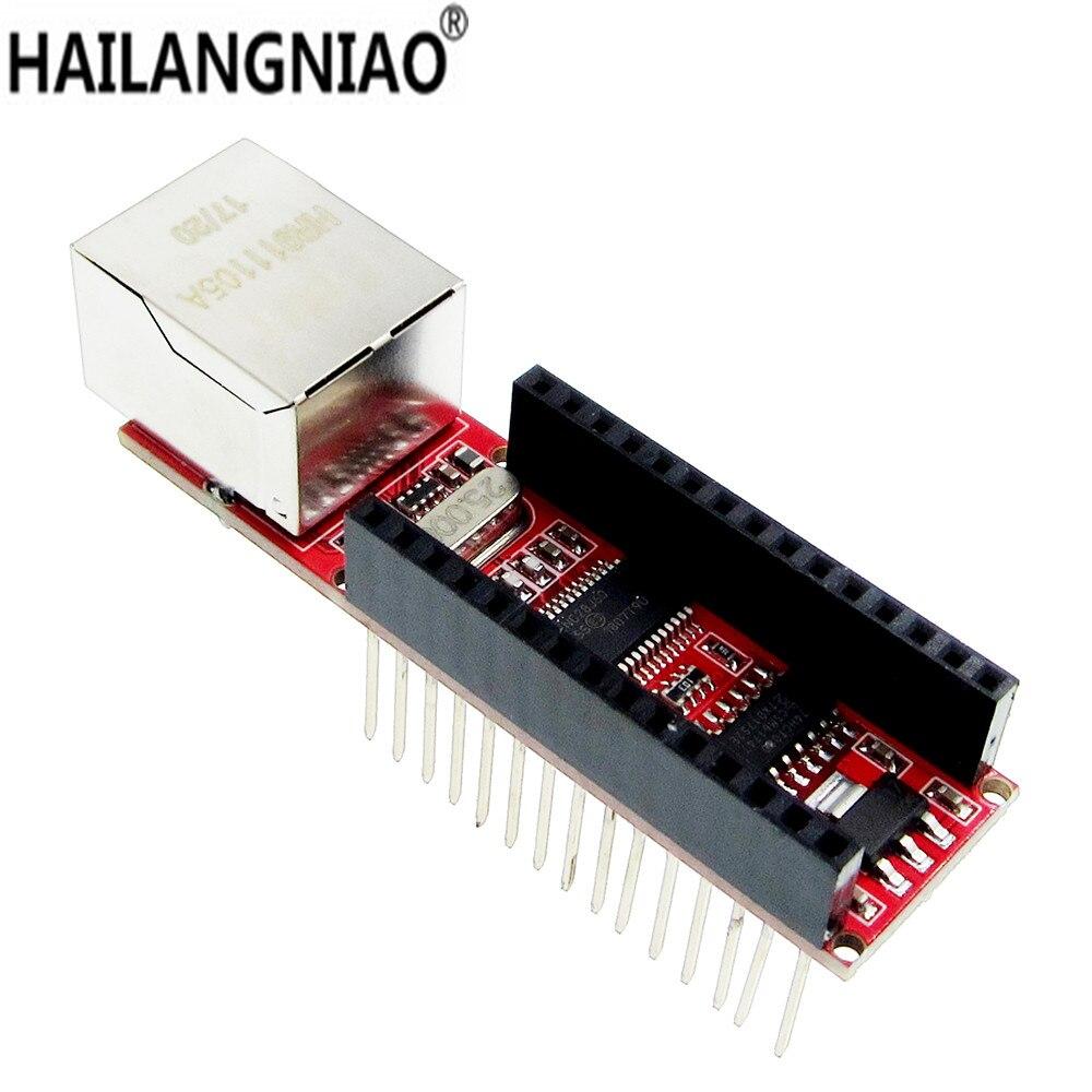10 stks ENC28J60 Ethernet Shield V1.0 voor Nano 3.0 RJ45 Webserver Module