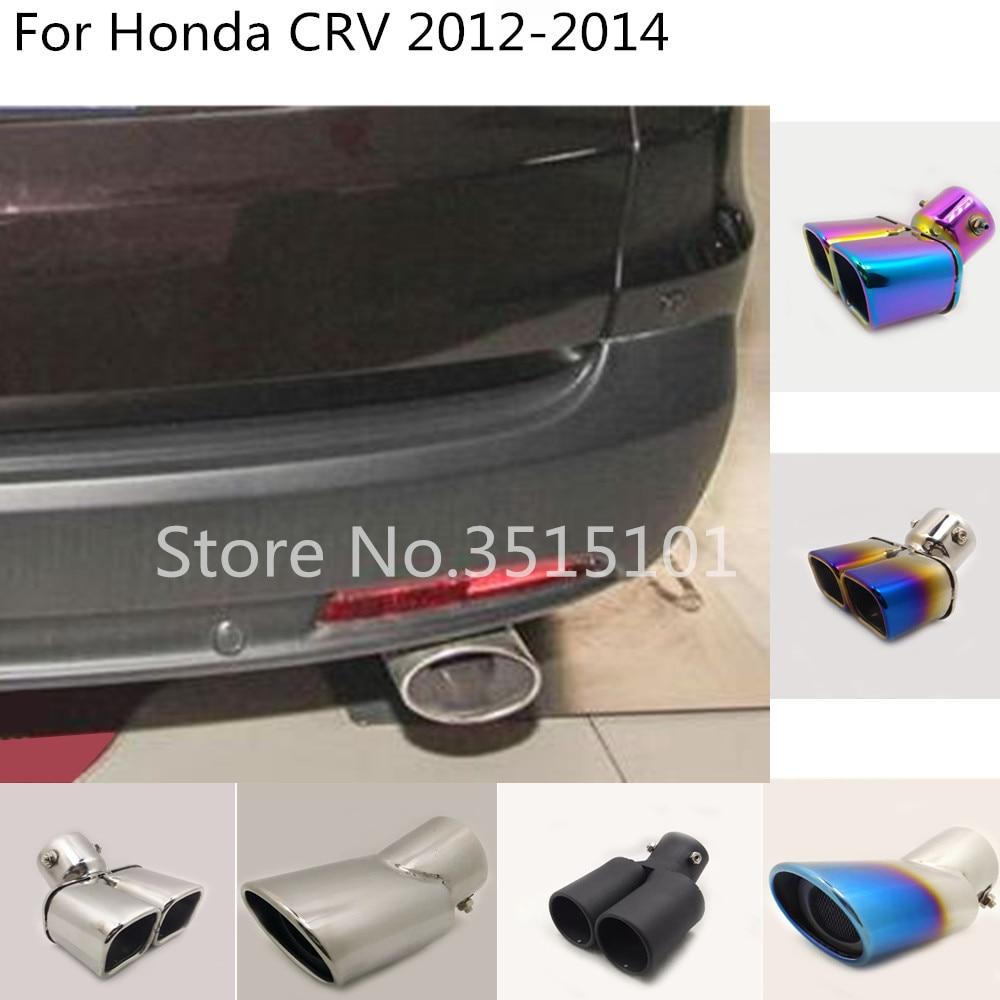 Tapa de salida de acero inoxidable para coche, silenciador, punta de tubo de escape dedicado, punta de escape para Honda CRV CR-V 2012 2013 2014