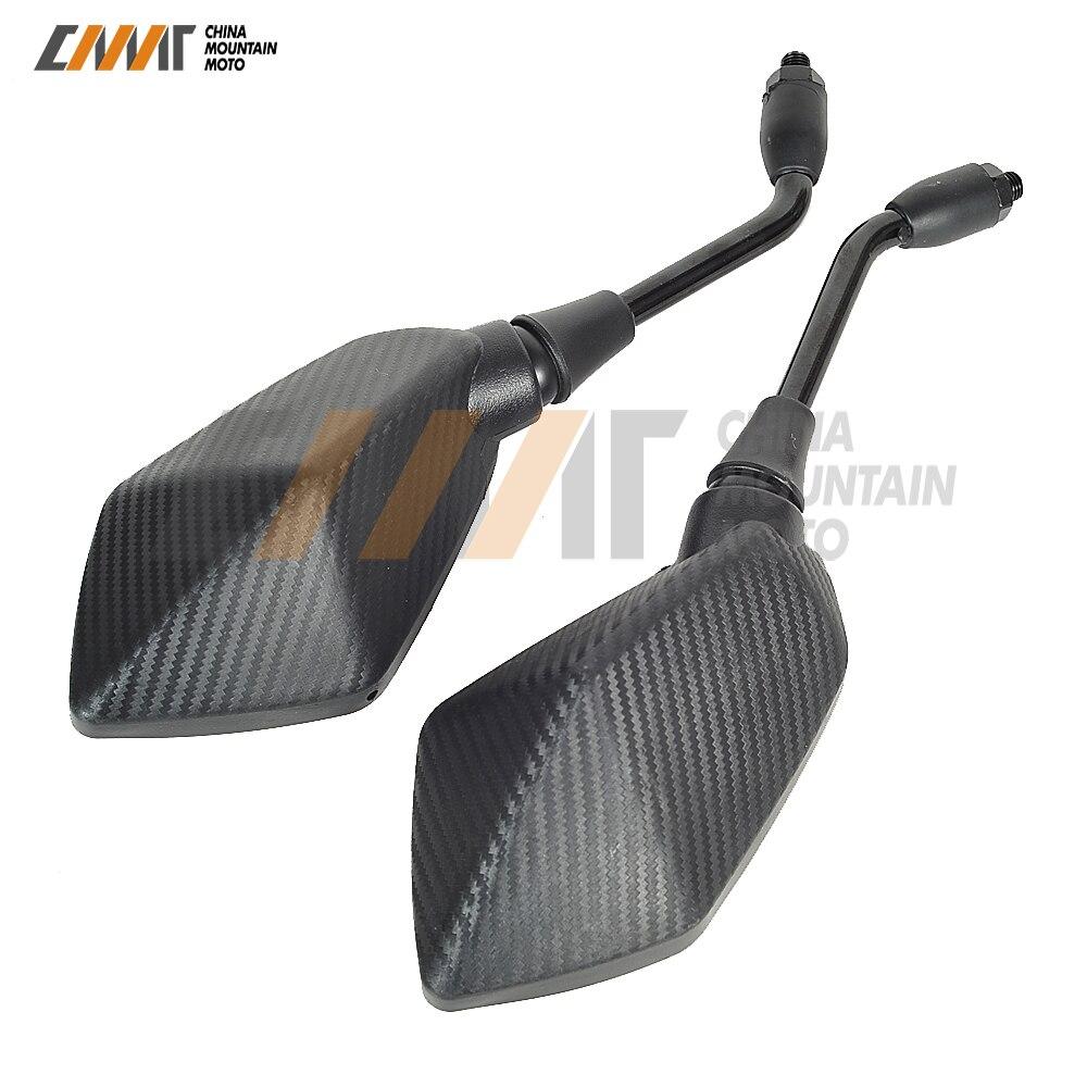 M10 10 millimetri di trasporto Del Motociclo Specchio Retrovisore per kawasaki Z300 ER-6N ER-6F ER-5 Z800 Z900 Z1000 Z750 W800 ZRX 400 1100 1200