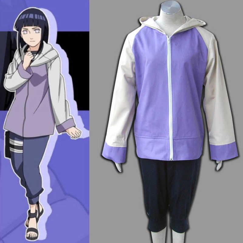 Anime Shippuuden Hinata Hyuga 2nd Generation Volle Combo Set Cosplay Kostüm Für Mädchen Sportswear Zwei Stück Jacke Hosen Anime Costumes Aliexpress