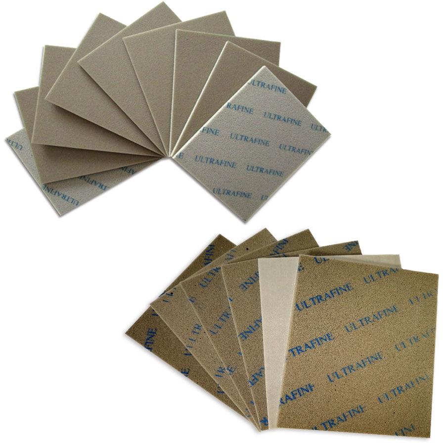 2-20 piezas 115x140mm seco mojado lija esponja papel de papel 800-1000, 1200-1500 Grit pulido fino papel lija abrasivo herramientas