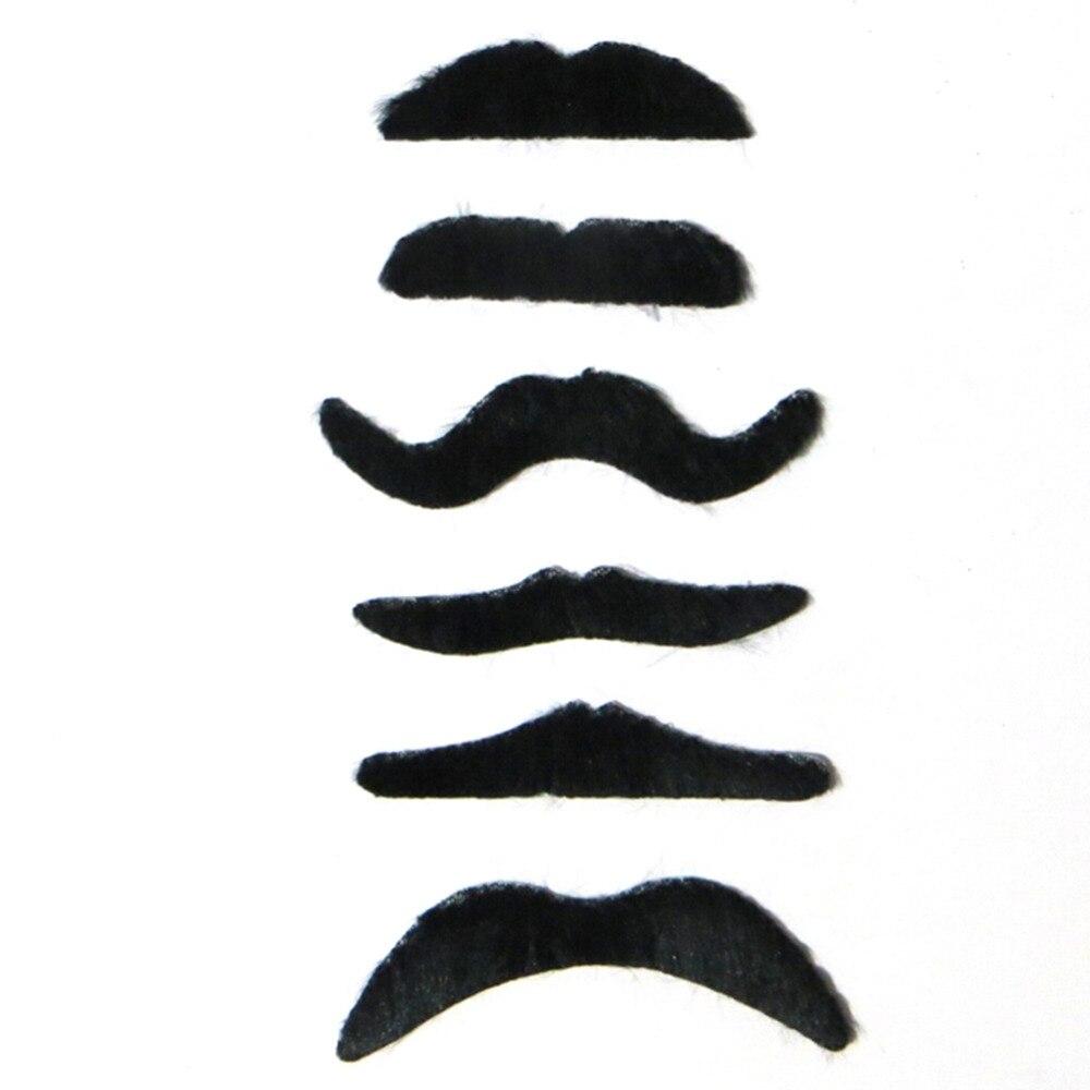 6 unids/set divertido disfraz fiesta Halloween falso bigote divertido barba falsa batidor caliente en todo el mundo mordaza Juguetes