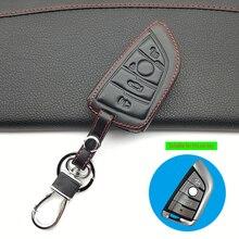 100% del Cuoio genuino di Chiave Dellautomobile di Caso Keyless Copertura A Distanza Per BMW X6 F15 X4 X5 X6 540 740 750 1 2 5 218i X1 F48 X5 Borsette Sacchetto Chiave