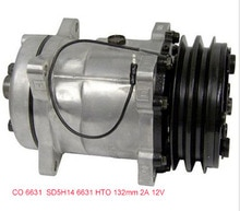 SD5H14  auto ac compressor for  Sanden 6631 4513 4471, 4646, 4735 HTO 132mm 2A 12V