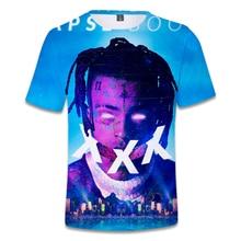Xxxtentacion cantante camiseta de Hip Hop rapero 3D camiseta Snoop Dogg Drake J Cole 21Savage Oxxxymiron camiseta Tops de talla grande