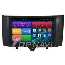 Topnavi-voiture GPS 9 pouces Quad Core   Android 6.0, Navigation GPS, pour Benz Smart 2012 2013 2014, Autoradio, Audio multimédia stéréo, sans DVD