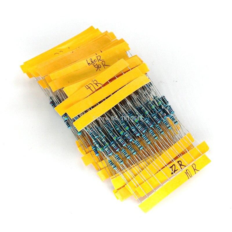1 paquete 300 Uds 10-1 M Ohm 1/4w resistencia 1% película de Metal Resistor juego surtido 30 tipos cada 10 Uds