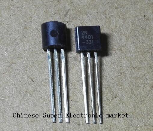 100PCS  2N4401 TO92 TO-92 4401 triode Transistor TO92-2N4401