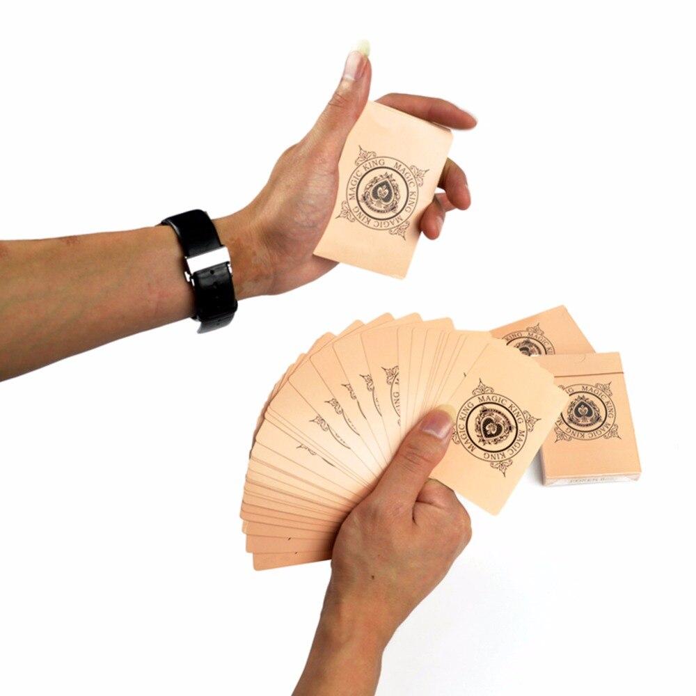 1 Uds. Cartas de manipulación tarjetas finas truco de magia ilusionismo mago profesional truco de magia