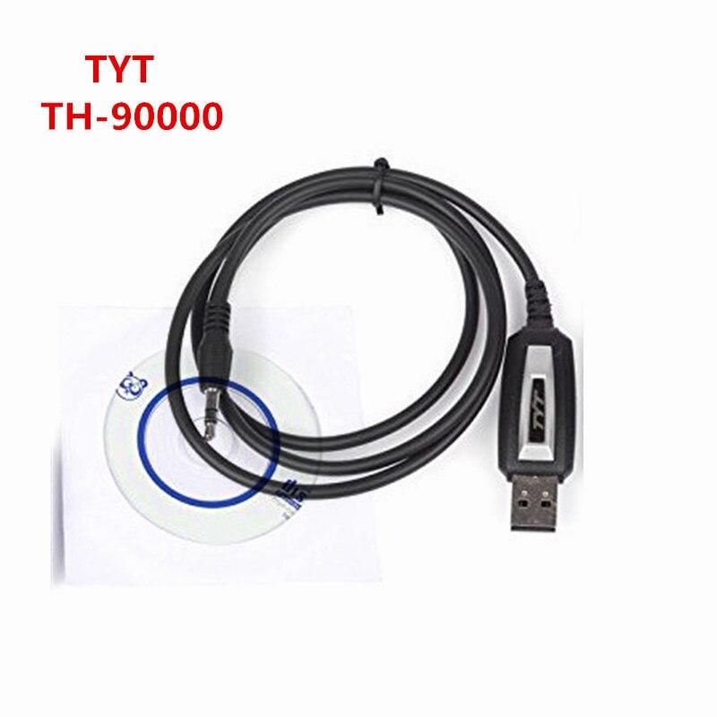 Автомобильный радио TYT TH-9000D 10 км Walkie talkie Профессиональный USB Кабель для программирования с CD программным обеспечением tranceiver Дата для tyt th-9000D