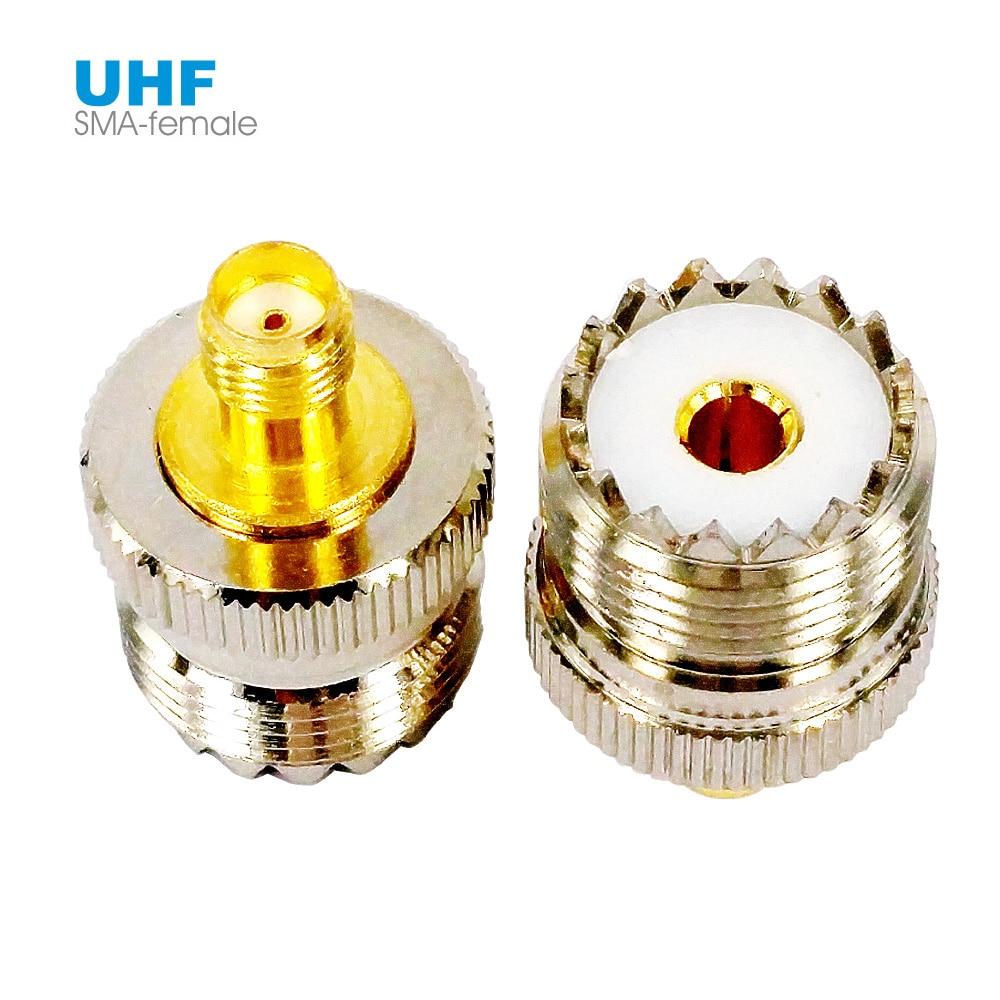 Sma fêmea para uhf fêmea rf conector coaxial adaptador so-239 so239 pl259 l15 para baofeng UV-5R rádio do carro walkie talkie antena