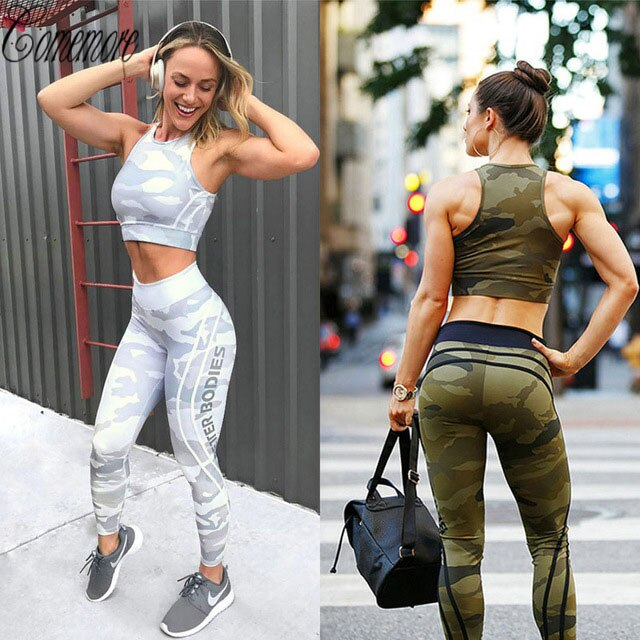 Leggings de deporte Stretch impresión ropa deportiva Yoga Leggins de Yoga mujeres Yoga pantalones Fitness para entrenar ropa Jogging Running mallas de gimnasio