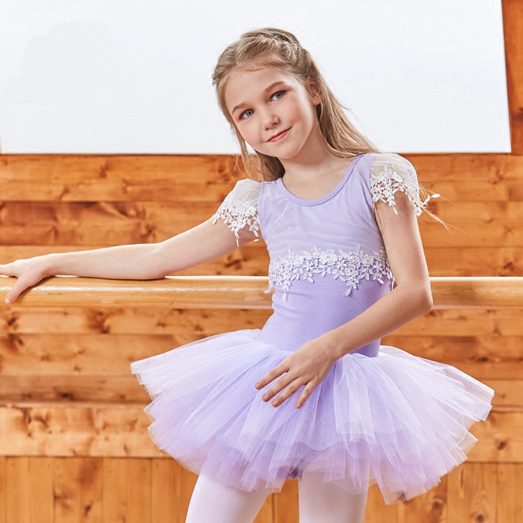 New Arrival  Girls Dresses Pink Black Cotton Princess Dress Kids Child Fluffy Gymnastics Ballet Tutu Dress
