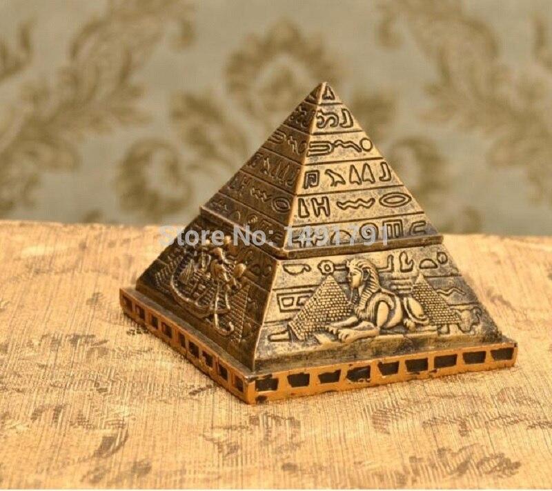 Caja temática de Egipto, ataúd piramidal, estatua de mamá, sarcófago del Faraón, accesorios de juego de escape de la vida Real del Antiguo Egipto