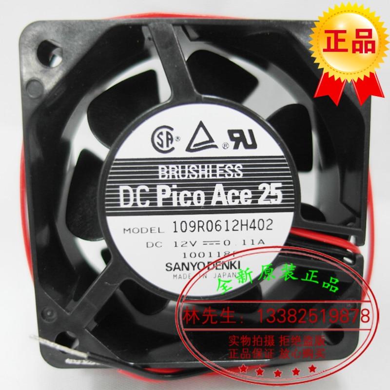NEW SANYO DENKI SAN ACE 109R0612H402 6025 12V 0.11A 6CM silence cooling fan