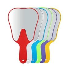 1pc Dental Teeth Shape Model Mirror Tooth Shape Glass Mirror Oral Teeth Care Hand Use Tools Glass High Quality Dental Gift