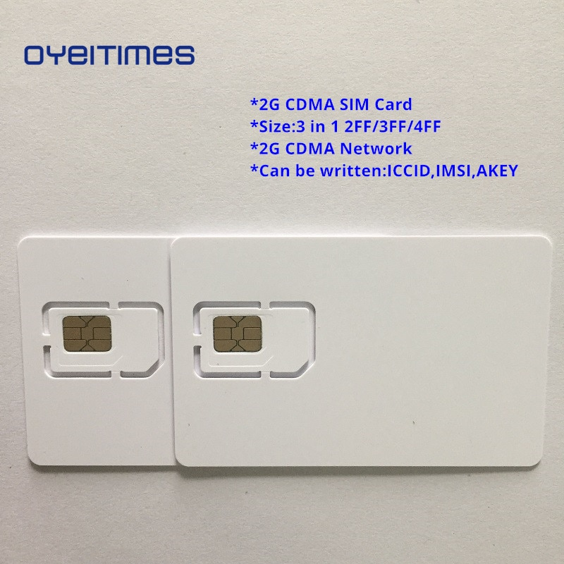 OYEITIMES Blank CDMA SIM Cards 2G Network CDMA SIM Card Programable CDMA SIM Card Mini,Micro and Nano Blank SIM Card