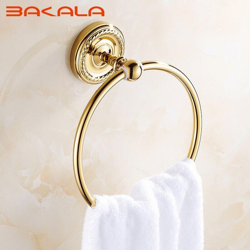 Free Shipping BAKALA  Fashionable Brass Gold finished Bathroom Hardware Bathroom Accessories Wall Hooks  Z-9007K