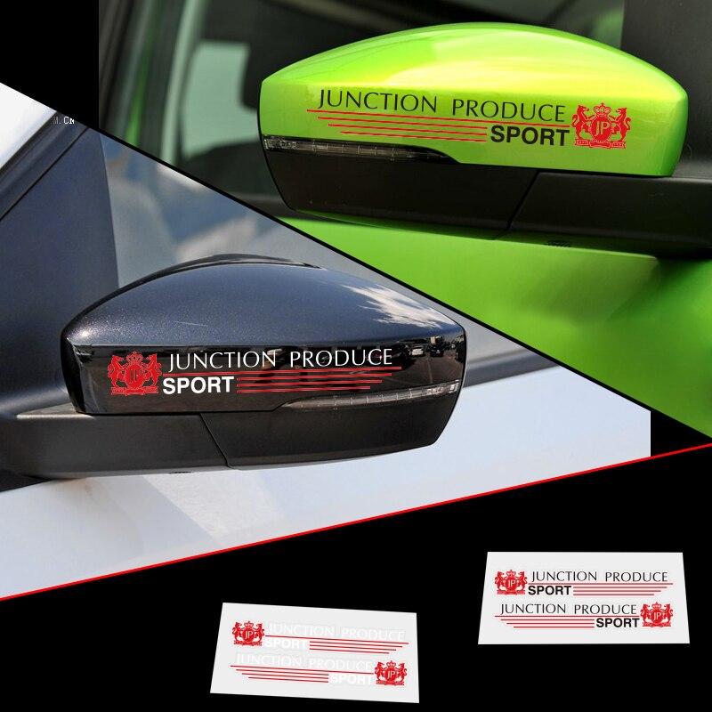 Aliauto 2 X отражающая Автомобильная Зеркальная Наклейка заднего вида соединительная планка производство Спорт для Ford Focus Chevrolet Cruze для Opel Honda ...