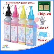 Hisaint Voor HP Q6000A Q6001A Q6002A Q6003A Toner Poeder & Chip Voor Color LaserJet 1600/2600n/2605/ CM1015 MFP/CM1017 MFP Paniek