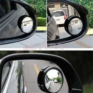 2 uds, espejo retrovisor de zona muerta para vehículo ciego, espejo retrovisor pequeño redondo, lado de coche 360 gran angular redondo convexo