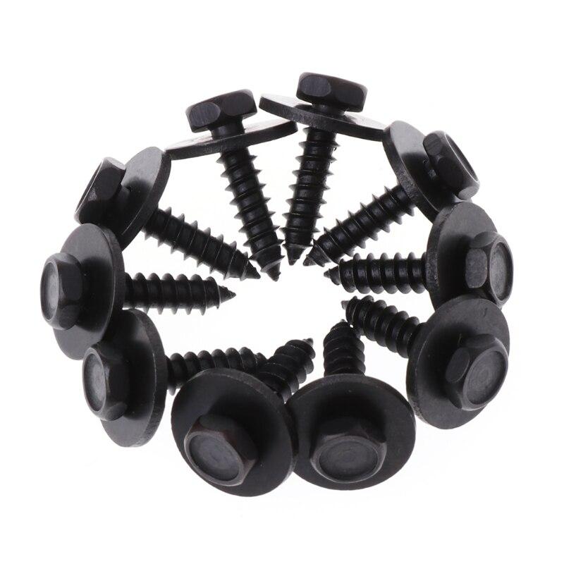 2019 nuevo caliente 10 piezas 4,8x19mm tornillos autorroscantes arandela suelta cautiva cabeza hexagonal de 8mm negro de decoración