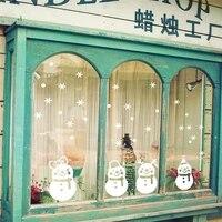 Autocollant mural bonhomme de neige joyeux noel  decalcomanies de fenetre en vinyle  flocons de neige amovibles pour la maison  nouvelle mode