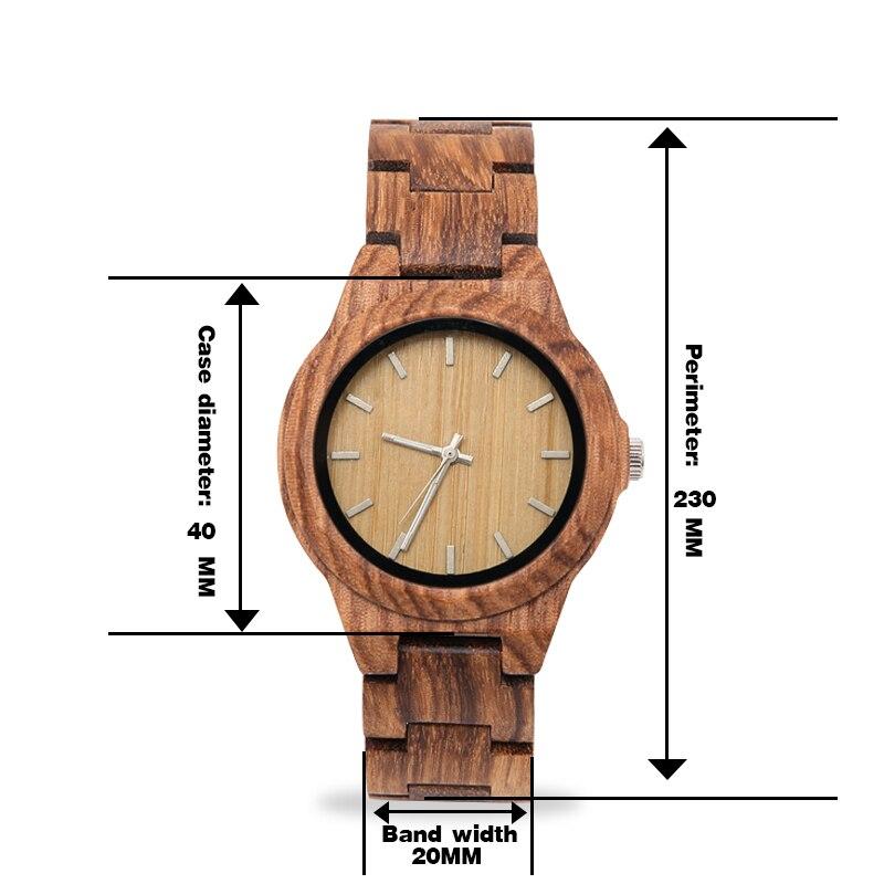 women's wooden watches fashion quartz wooden ladies watch top brand luxury relogio feminino bracelet watch enlarge