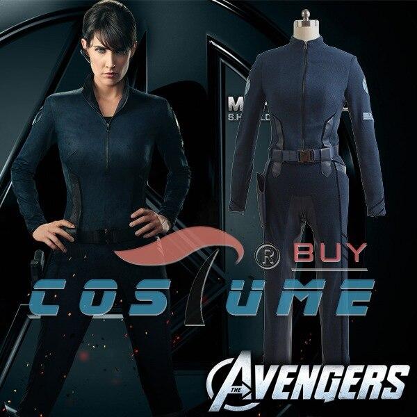 Os Vingadores Capitão América Agentes da SHIELD Vice Diretora Maria Hill Calças Moletom Com Capuz Traje Cosplay Filme