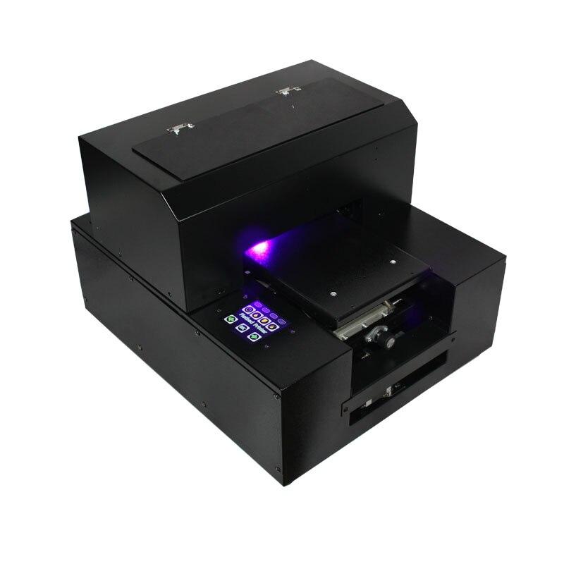UV blanco y Color impresión con tinta UV una vez tamaño A4 funda de teléfono LED lámpara UV impresora plana
