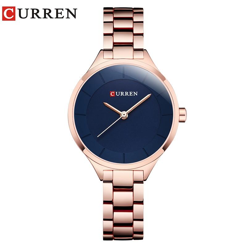 CURREN Top Brand Fashion Ladies Watches Stainless Steel Band Quartz Female Wrist Watch Ladies Gifts