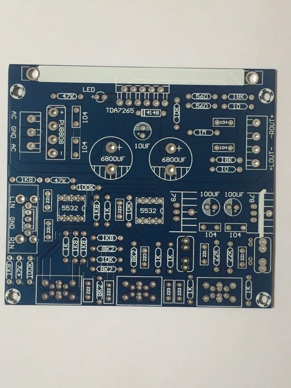 Fannyda Hi Fi TDA7265 + NE5532 домашние усилители мощности PCB пустые платы