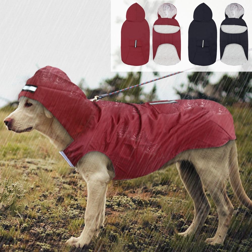 Pet Large Dog Raincoat Waterproof Big Dog Clothes Outdoor Coat Rain Jacket For Golden Retriever Labrador Husky Big Dogs 3XL-5XL