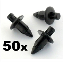 50x 6mm For Plastic Rivet Fender & Trim Clips- Honda, For Yamaha, For Suzuki, For Kawasaki etc