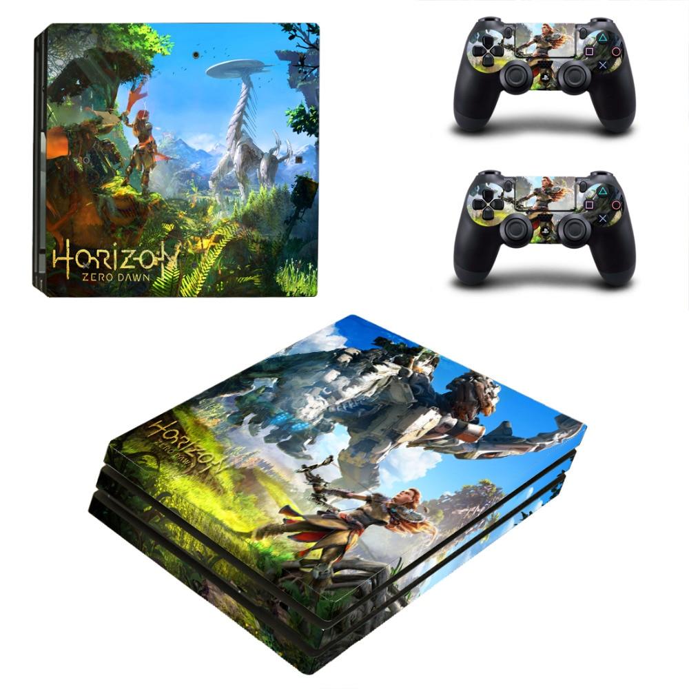 Наклейка на кожу Horizon Zero Dawn PS4 Pro для консоли Sony PlayStation 4 и 2 контроллера PS4 Pro виниловая наклейка на кожу