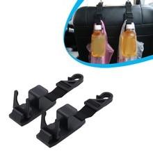 2pcs Clips Heavy Duty Car Front Back Seat Headrest Hooks Hanger Holder Storage Organizer Auto Fastener Accessories